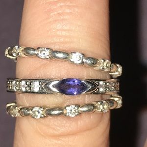 Jewelry - Set of three 925 sterling silver stackable rings